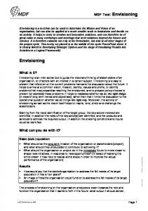Envisioning. MDF Tool: Envisioning. What is it? What can you do with it? Basic (sub-) question. Results