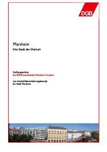 Enzkreis. zum Haushaltskonsolidierungskonzept der Stadt Pforzheim
