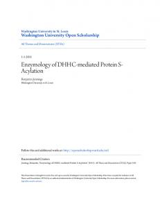 Enzymology of DHHC-mediated Protein S- Acylation