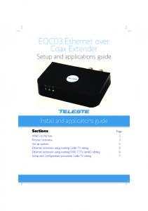 EOC03 Ethernet over Coax Extender