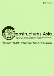 eostructures Asia October 14-16, 2014 Goodwood Park Hotel, Singapore
