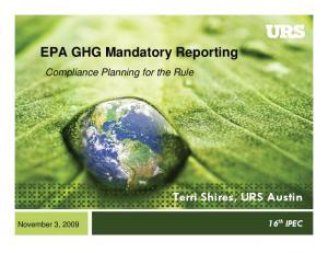 EPA GHG Mandatory Reporting