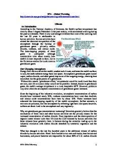 EPA Global Warming