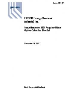 EPCOR Energy Services (Alberta) Inc