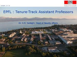 EPFL : Tenure-Track Assistant Professors