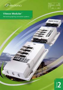 Epic K4:Y46. Uniclass (63) X (R5) Vitesse Modular. Reinventing lighting connection systems. Issue