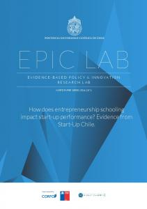 EPIC LAB EVIDENCE-BASED POLICY & INNOVATION RESEARCH LAB