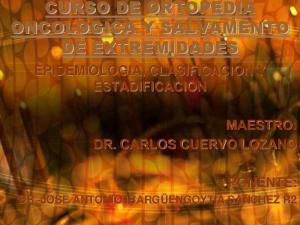 EPIDEMIOLOGIA, CLASIFICACION Y ESTADIFICACION