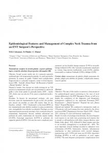 Epidemiological Features and Management of Complex Neck Trauma from an ENT Surgeon s Perspective