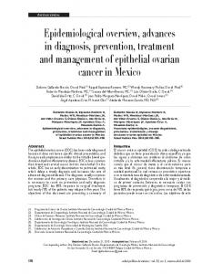 Epidemiological overview, advances in diagnosis, prevention, treatment and management of epithelial ovarian cancer in Mexico