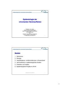 Epidemiologie der chronischen Herzinsuffizienz