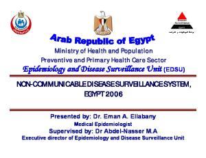 Epidemiology and Disease Surveillance Unit (EDSU)