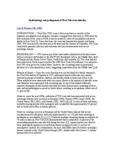 Epidemiology and pathogenesis of West Nile virus infection