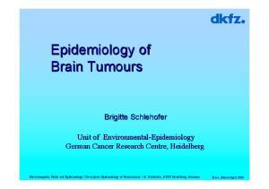Epidemiology of Brain Tumours