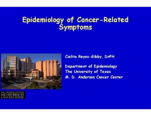 Epidemiology of Cancer-Related Symptoms