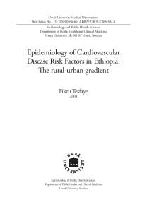 Epidemiology of Cardiovascular Disease Risk Factors in Ethiopia: The rural-urban gradient