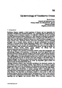 Epidemiology of Foodborne Illness