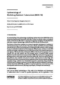 Epidemiology of Multidrug Resistant Tuberculosis (MDR-TB)