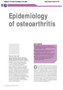 Epidemiology of osteoarthritis