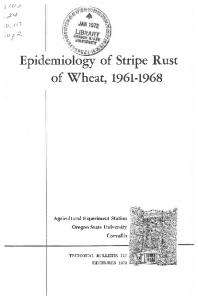 Epidemiology of Stripe Rust