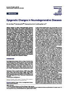 Epigenetic Changes in Neurodegenerative Diseases