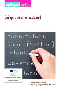 Epileptic seizures explained