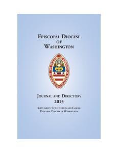 EPISCOPAL DIOCESE OF WASHINGTON
