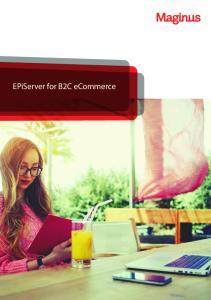 EPiServer for B2C ecommerce