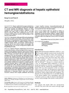 Epithelioid hemangioendothelioma (EHE) is a rare,