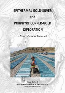 EPITHERMAL GOLD-SILVER and PORPHYRY COPPER-GOLD EXPLORATION