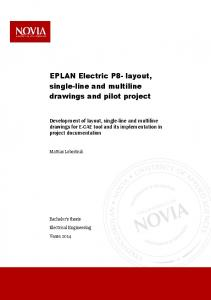 EPLAN Electric P8- layout, single-line and multiline drawings and pilot project
