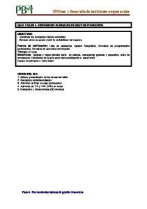 EPR Fase 1: Desarrollo de habilidades empresariales