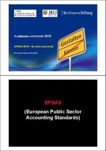 EPSAS (European Public Sector Accounting Standards)