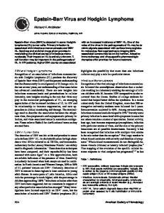 Epstein-Barr Virus and Hodgkin Lymphoma