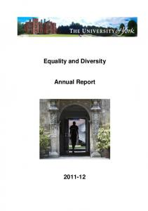Equality and Diversity. Annual Report