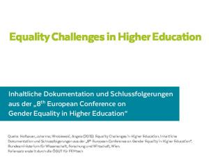 Equality Challenges in Higher Education