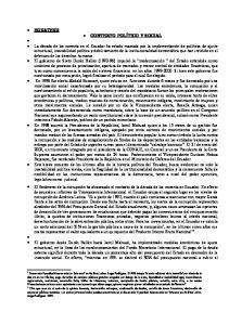 EQUATEUR CONTEXTO POLÍTICO Y SOCIAL