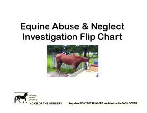 Equine Abuse & Neglect Investigation Flip Chart