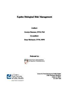 Equine Biological Risk Management