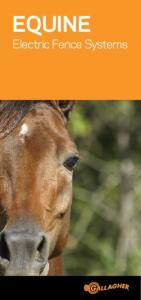 EQUINE. Electric Fence Systems