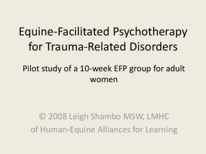 Equine-Facilitated Psychotherapy for Trauma-Related Disorders