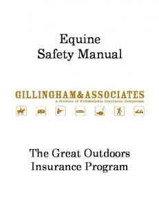 Equine Safety Manual. The Great Outdoors Insurance Program