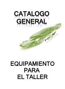 EQUIPAMIENTO PARA EL TALLER