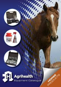 Equipment Catalogue HORSE PRODUCTS