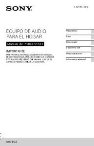EQUIPO DE AUDIO PARA EL HOGAR