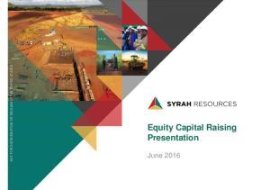 Equity Capital Raising Presentation