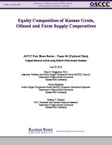 Equity Composition of Kansas Grain, Oilseed and Farm Supply Cooperatives