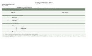 Equity in Athletics 2012