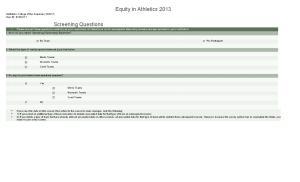 Equity in Athletics 2013