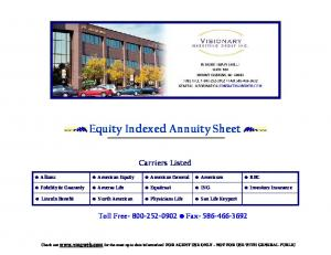 Equity Indexed Annuity Sheet